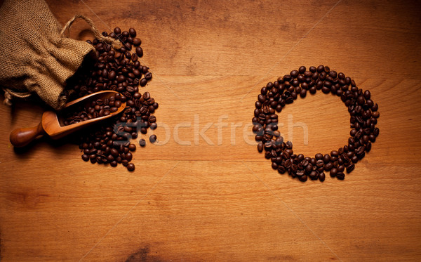 Freshly Roasted Coffee Beans Circle Stock photo © stryjek