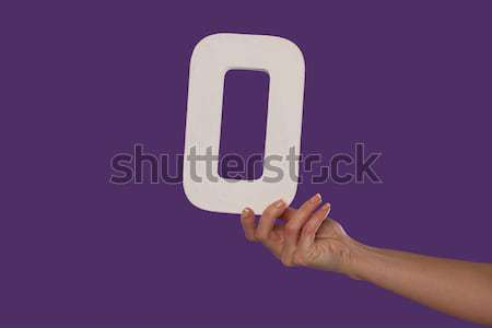 hand holding up the number zero from the right Stock photo © stryjek
