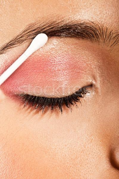 Applying Eye Makeup Eye Closed Stock photo © stryjek