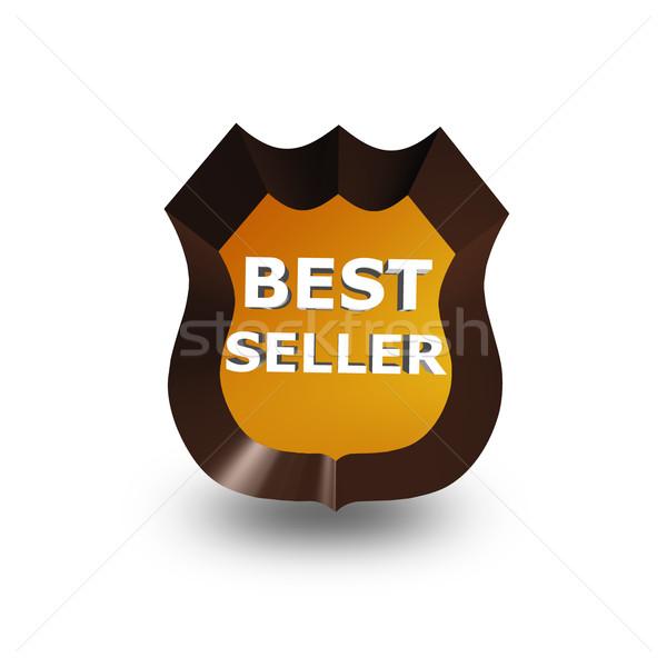 Besten Verkäufer Symbol weiß 3D abstrakten Stock foto © stryjek