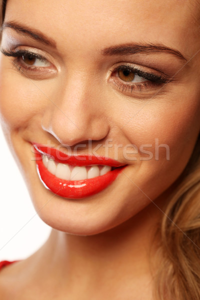 Beautiful Smile With Beautiful Teeth Stock photo © stryjek