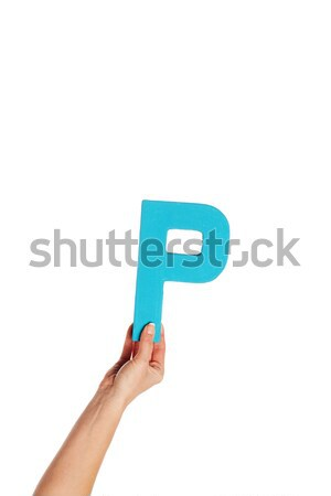 hand holding up the letter P from the bottom Stock photo © stryjek