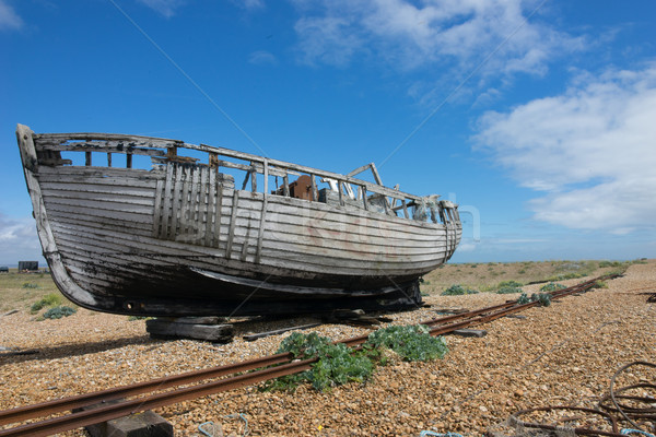 Abandoned fishing boat at Dungeness. Stock photo © stryjek