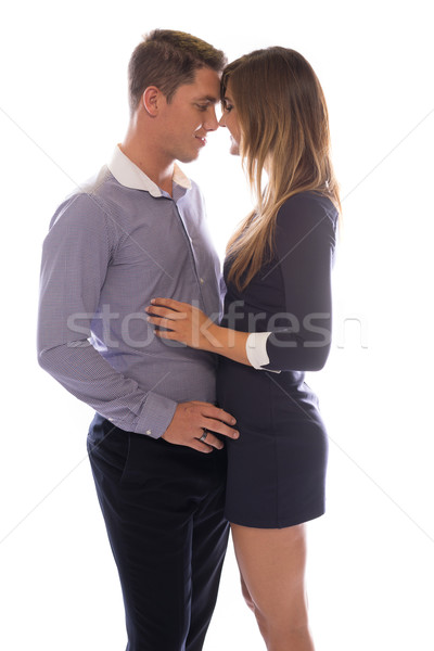 Affectionate young couple touching foreheads Stock photo © stryjek