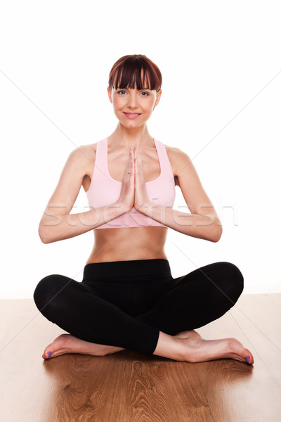 Woman Practising Yoga Stock photo © stryjek
