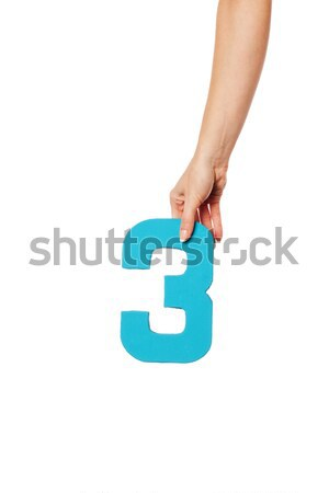 hand holding up the number three from the top Stock photo © stryjek