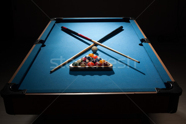 Pool equipment ready for a frame Stock photo © stryjek