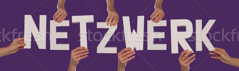 White alphabet lettering spelling NETZWERK Stock photo © stryjek