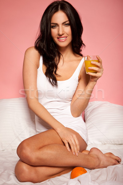 Morning Glass Of Orange Juice Stock photo © stryjek