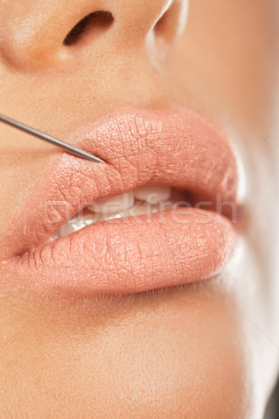 Botox Injection In The Lip Stock photo © stryjek
