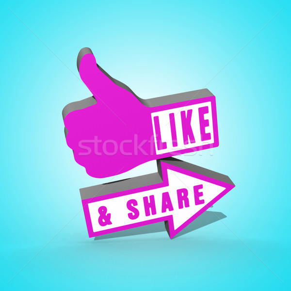 Like and Share Thumbs Up Stock photo © stryjek
