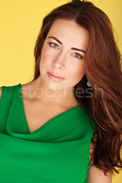 Beautiful Redhead With Lovely Complexion Stock photo © stryjek