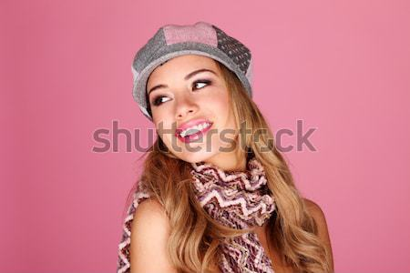 Bella sorriso bella signora donna bionda Foto d'archivio © stryjek