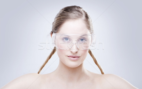WOMAN WEARING GOGGLES Stock photo © stryjek