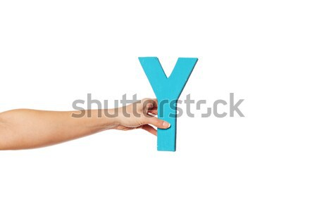 hand holding up the letter K from the right Stock photo © stryjek