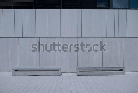 Kettő hasonló fehér épület fal egyszerű Stock fotó © stryjek