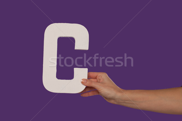 Feminino mão letra c direito Foto stock © stryjek