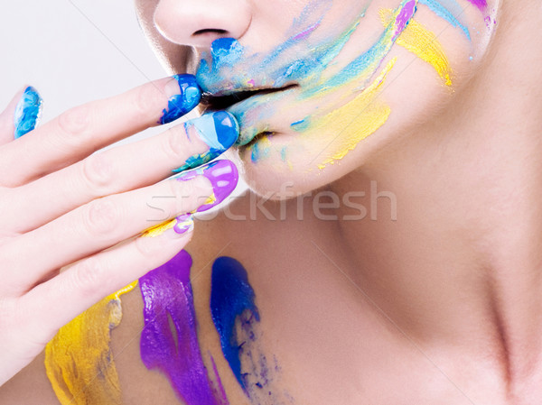 colorfull makeup Stock photo © stryjek