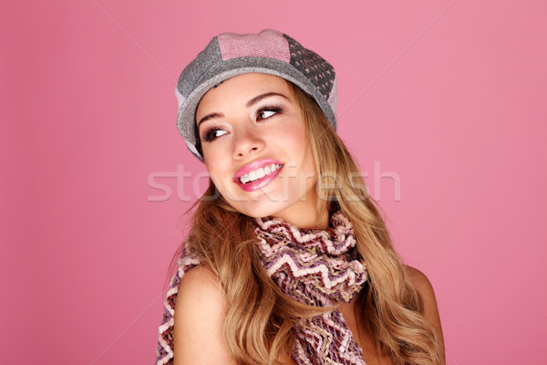 Fashion Model In Winter Accessories Stock photo © stryjek