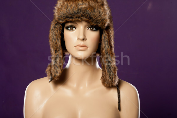 Mannequin hiver chapeau femme fille Photo stock © stryjek