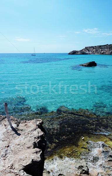 Cala Tarida in Ibiza beach San Jose at Balearic Islands Stock photo © stryjek