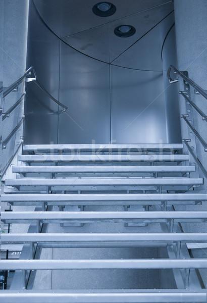 Merdiven sonraki zemin modern bina merdiven Stok fotoğraf © stryjek