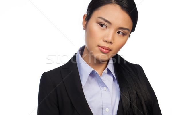 Poważny młodych zawodowych asian kobieta patrząc Zdjęcia stock © stryjek