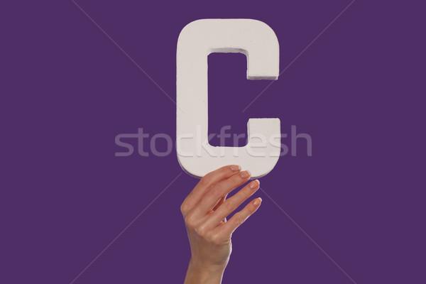 Zdjęcia stock: Kobiet · strony · litera · c · dolny