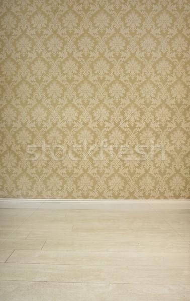 Pustym pokoju vintage beżowy tapety wzór Zdjęcia stock © stryjek