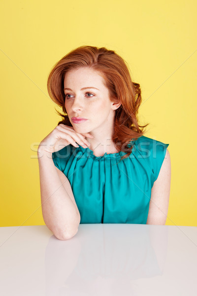 Sad Despondent Redhead Beauty Stock photo © stryjek