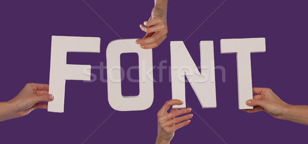 белый алфавит правописание шрифт вверх Purple Сток-фото © stryjek