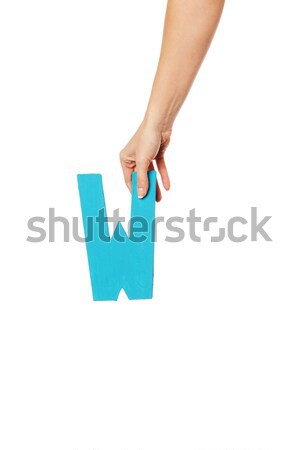 Stock photo: hand holding up the number seven from the top