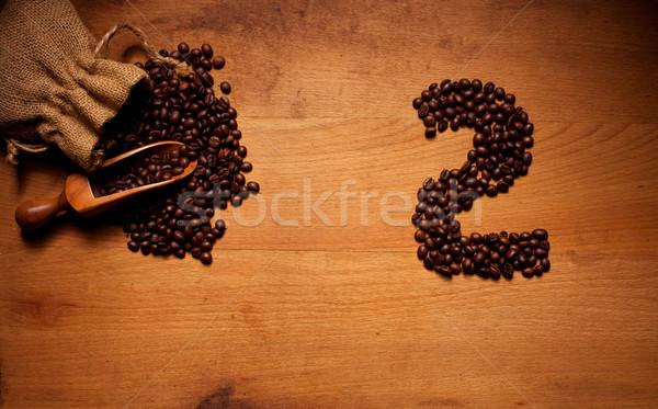 Freshly Roasted Coffee Beans 2 Stock photo © stryjek