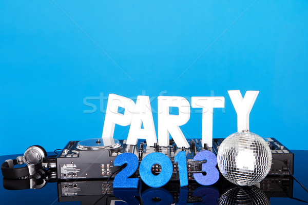 PARTY 2013 background with DJ deck Stock photo © stryjek