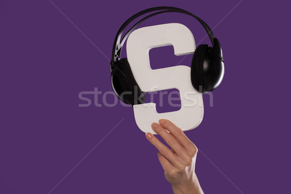 The letter S with a set of headphones Stock photo © stryjek