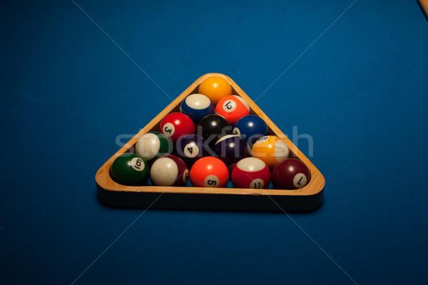 Medence golyók fogas színes tárgy fából készült Stock fotó © stryjek