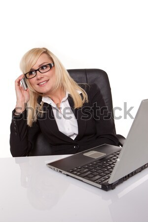 Flirty and provocative business woman Stock photo © stryjek