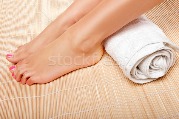 Womans feet with a rolled towel Stock photo © stryjek