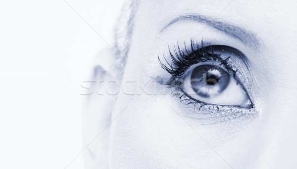 Stock photo: blue eye