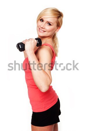 Gorgeous young woman working out Stock photo © stryjek