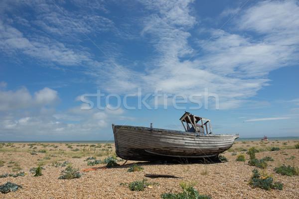 Abandoned fishing boat at Dungeness. Stock photo © stryjek