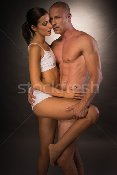 Very Sexy Young Partners Showing Seductive Pose Stock photo © stryjek