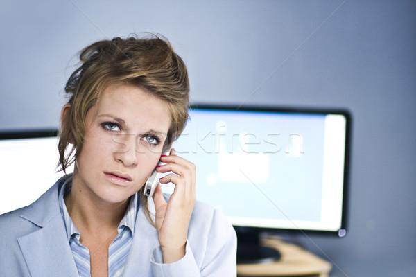 Centro de llamadas operador ordenador problemas negocios mujeres Foto stock © stryjek
