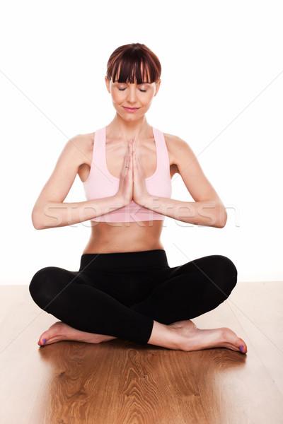 Meditating In Lotus Position Stock photo © stryjek
