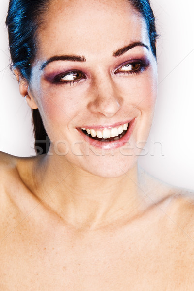 Belo mulher jovem cara imagem Foto stock © stryjek