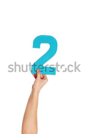 hand holding up the number two from the bottom; Stock photo © stryjek