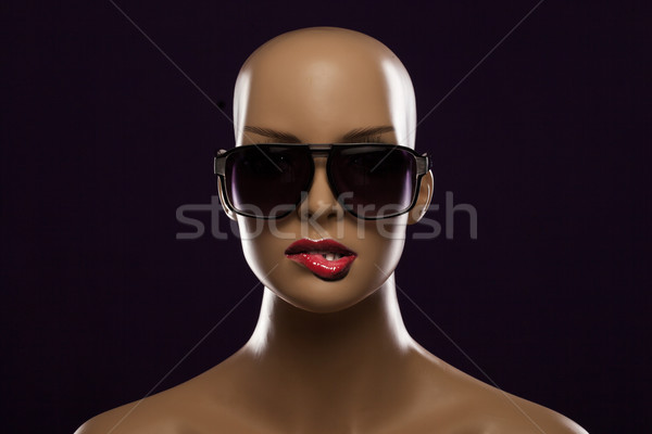 Etalagepop mode zonnebril vrouw meisje Stockfoto © stryjek