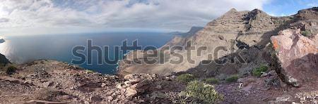 Panoramic view of rocky mountain peaks Stock photo © stryjek