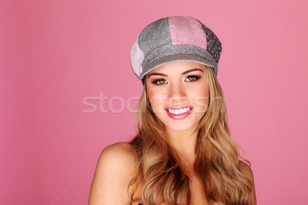 Pretty Smiling Girl Facing Camera Stock photo © stryjek