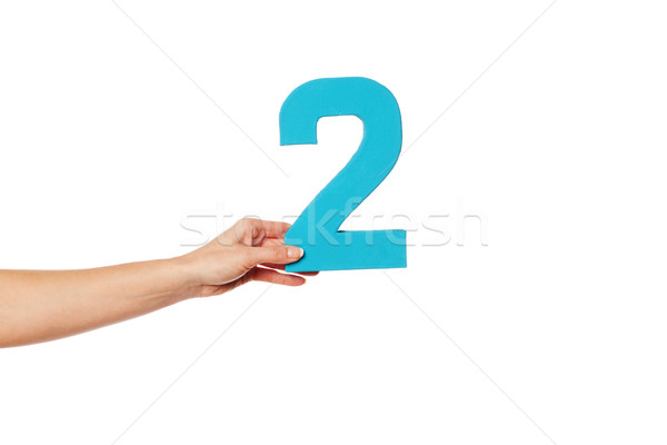hand holding up the number two from the left Stock photo © stryjek